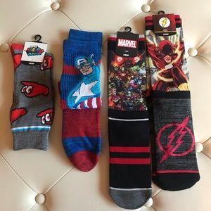 Bundle of Character Crew Socks Marvel Avengers